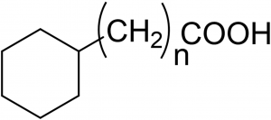 Figure 1. The surfactants have structures with n ranging from 0 to 4.